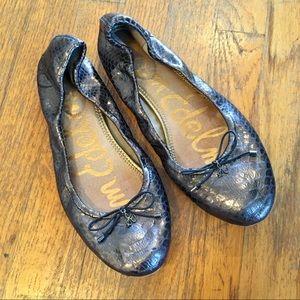 Sam Edelman Felicia Metallic Gray Ballet Flats 10